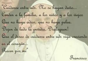 palabras de Francisco