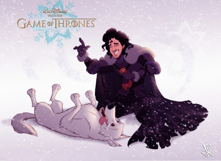 Interlazado.com_GOT- disney_ Jon Snow y Ghost