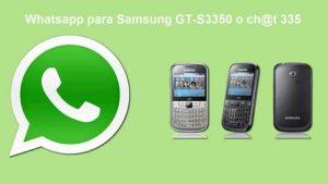 Descargar WhatsApp para Samsung gt-s3350